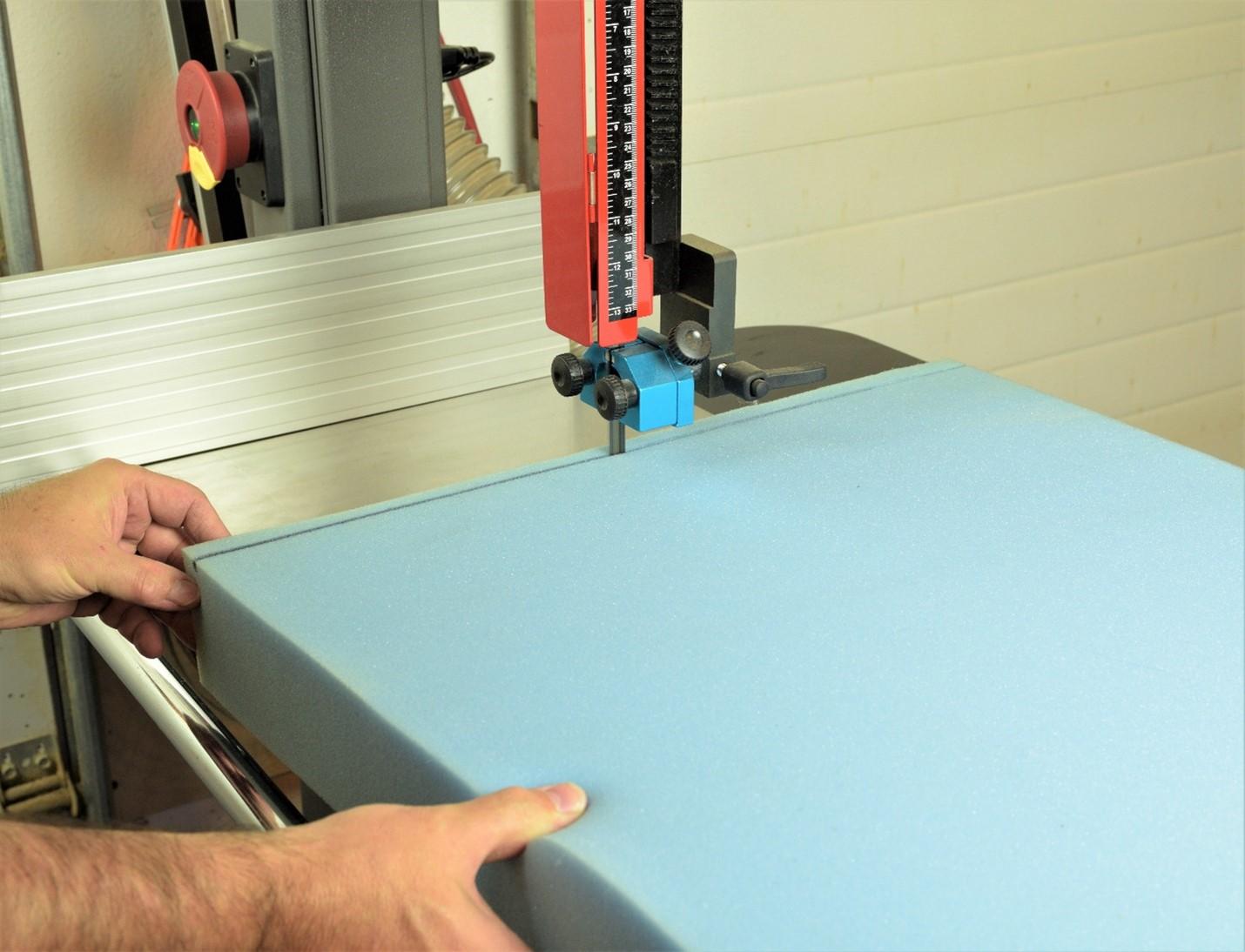 14 12 laguna tools bandsaw cutting foam straight