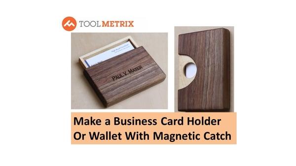 DIY Wooden Business Card Holder