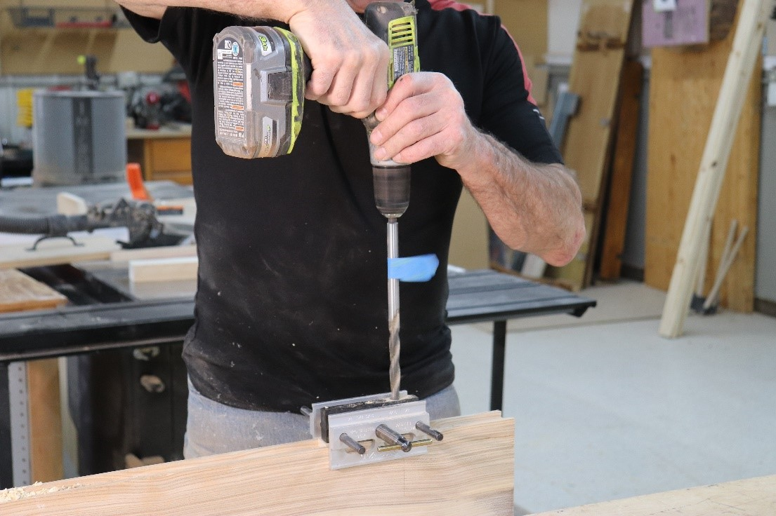 Alternative easier option with extra long drill bits