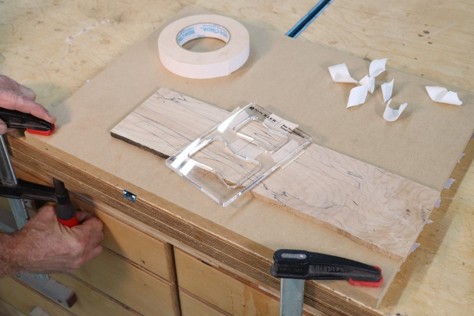 Attaching material to scrap wood