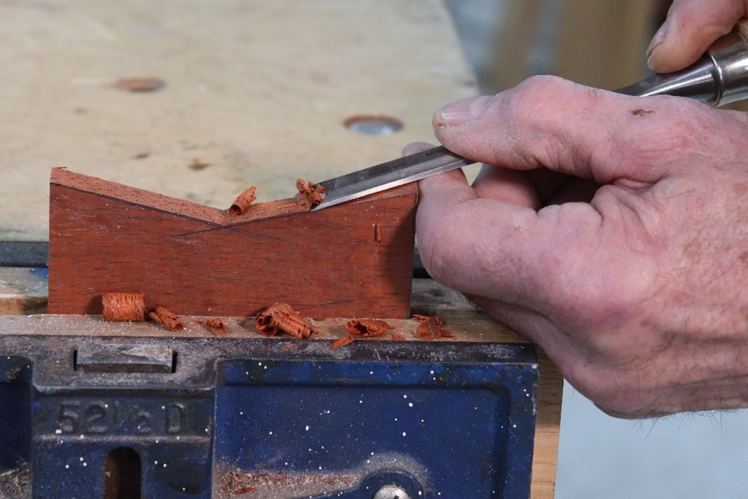 Chiseling the outer shape
