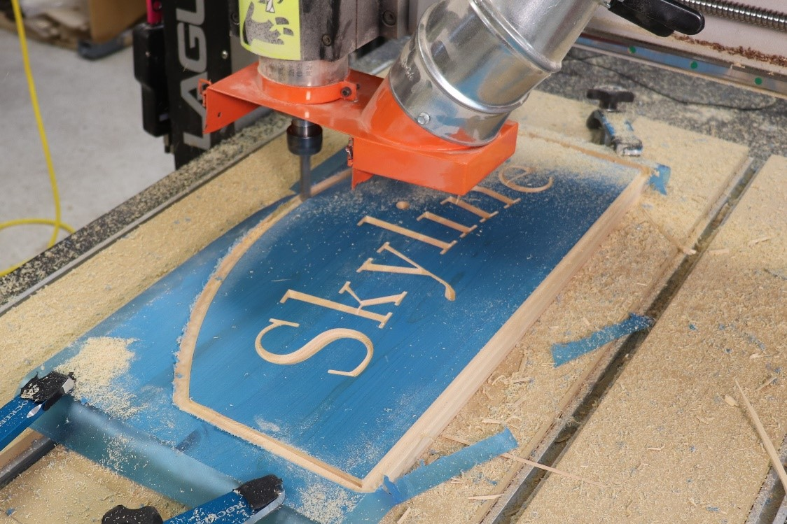Choosing the correct router bits for wooden sign