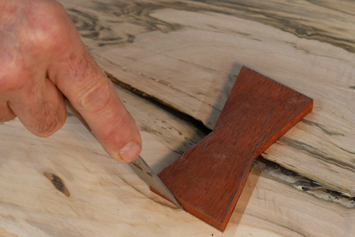 Creating the inlay for the finished piece