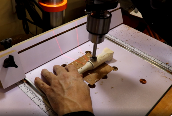 Cut into the wood with a pit tool to make the penny recess-1