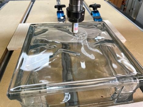 running the Laguna iQ CNC toolpath