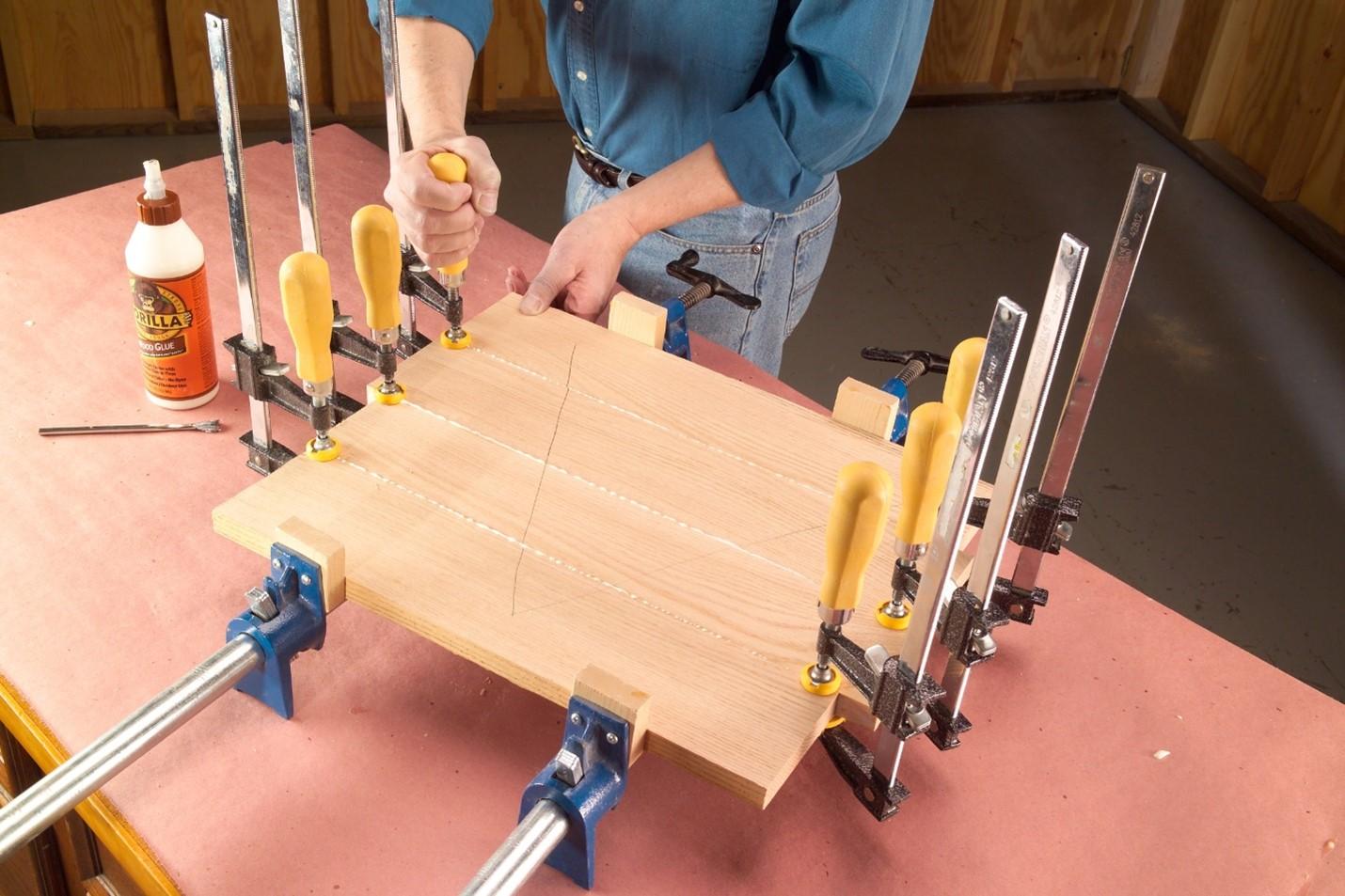 how to put together edge to edge glue ups