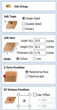 Job Setup Menu and Options