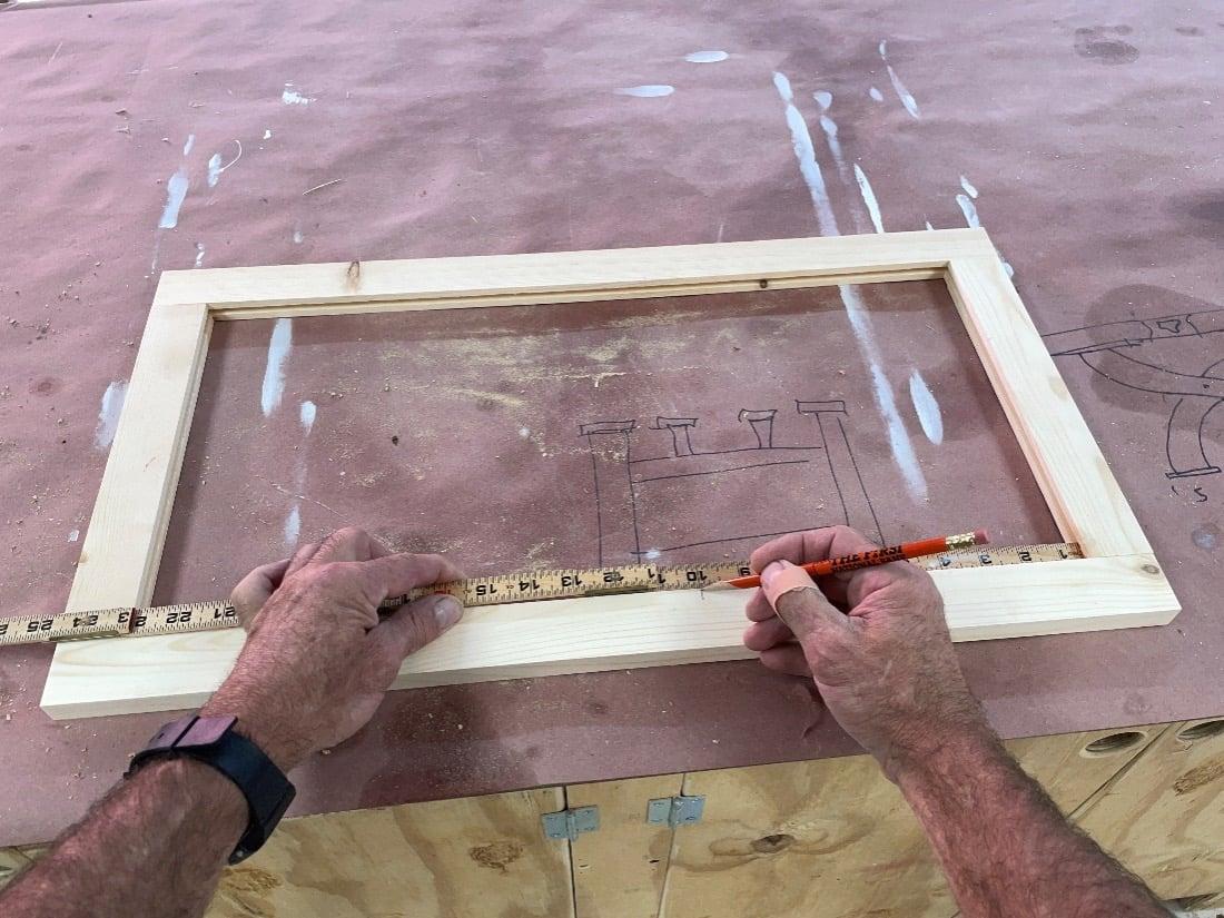 dry assembling the wood frame