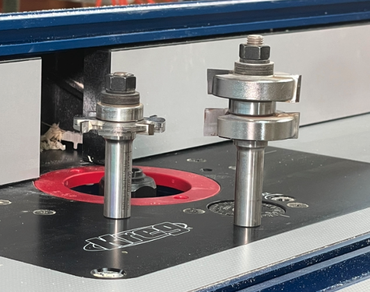 router bits on a router table