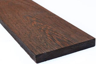 Wenge wooden board for woodworking project