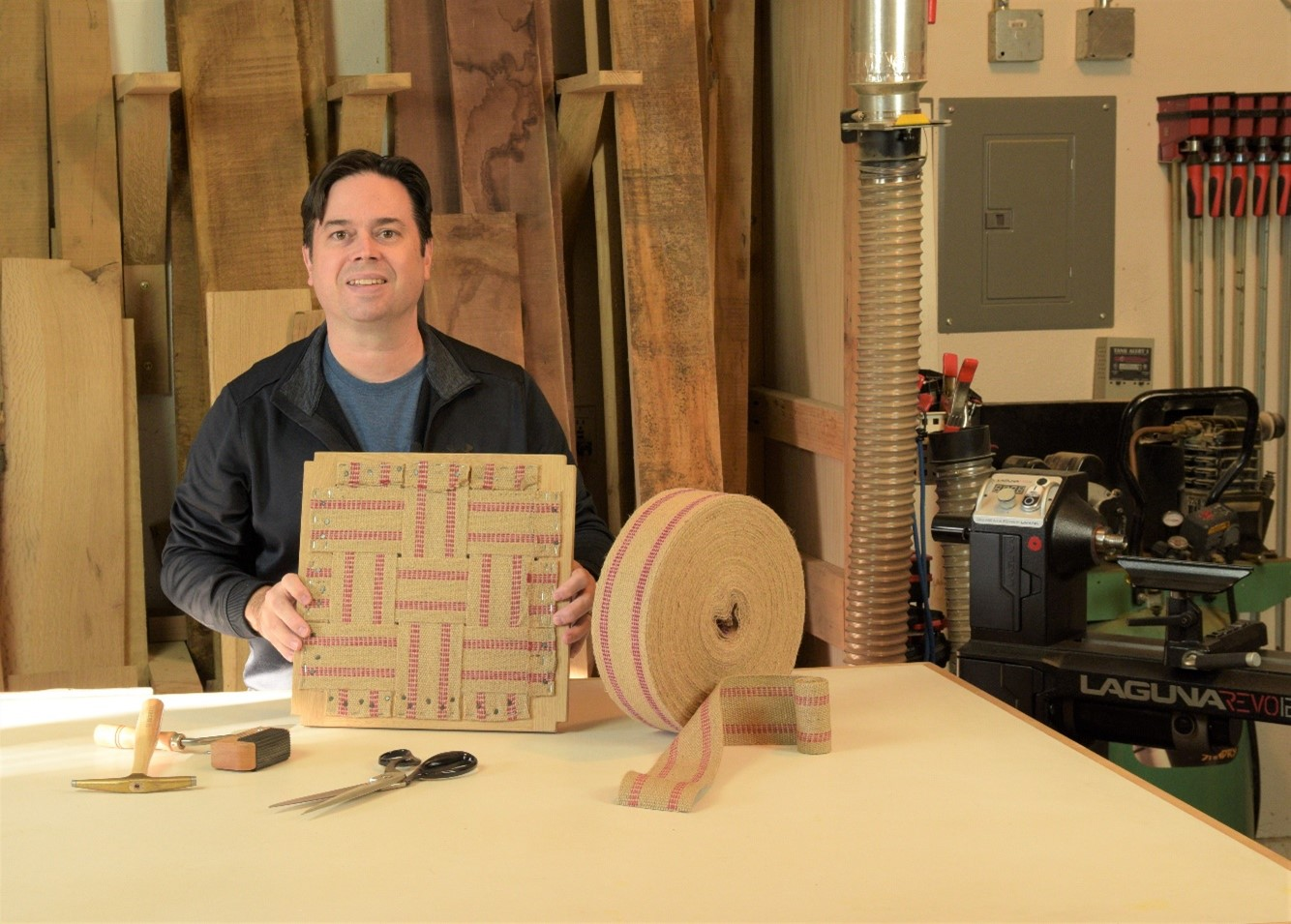Making a seat frame - bandsaw woodworking