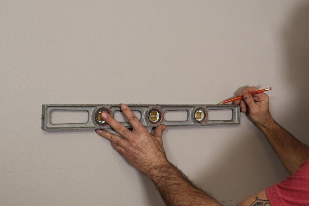 Marking position for shelf installation