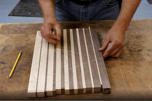 Modern Graduated Strip Cutting Board