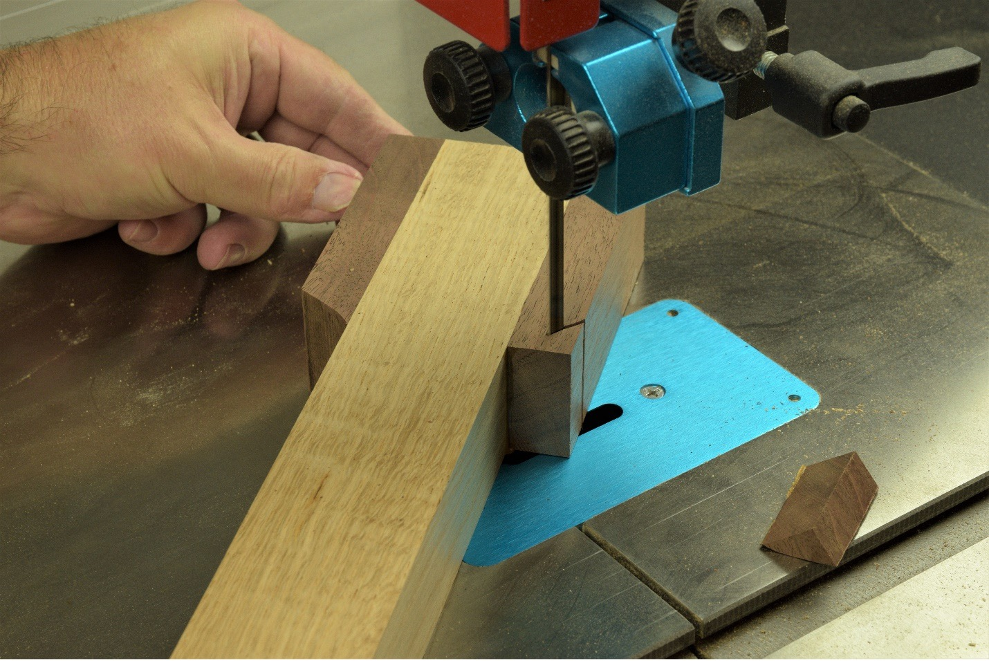 trimming smaller mallet blanks on wood working project
