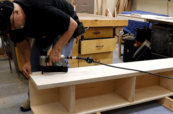 DIY Platform Storage Bed