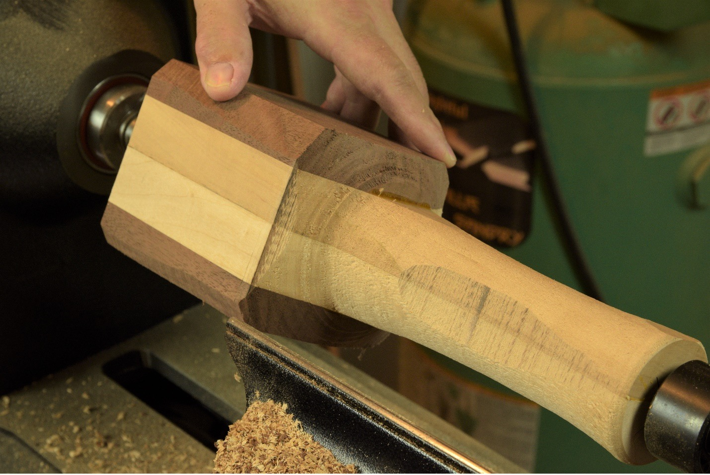 check your wood turning work