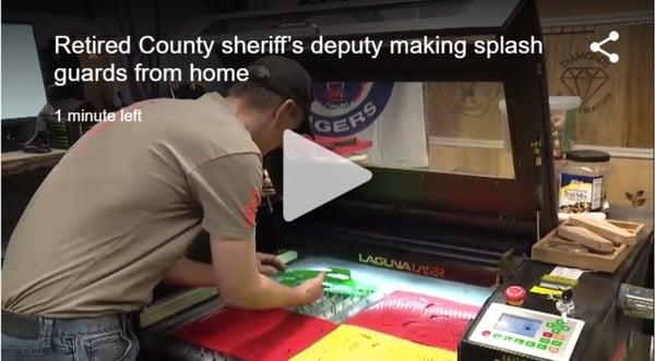 Retired Wayne County sheriff s deputy uses laser cutters to make splash guards   FOX 2 Detroit