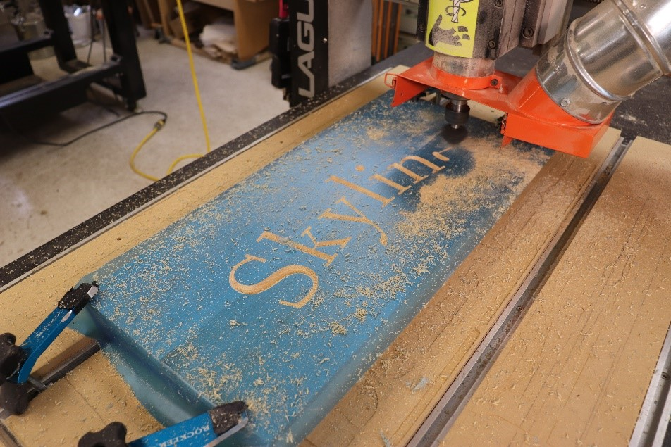 Routering the wood with your CNC machine