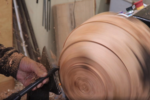 shaping outside of the bowl