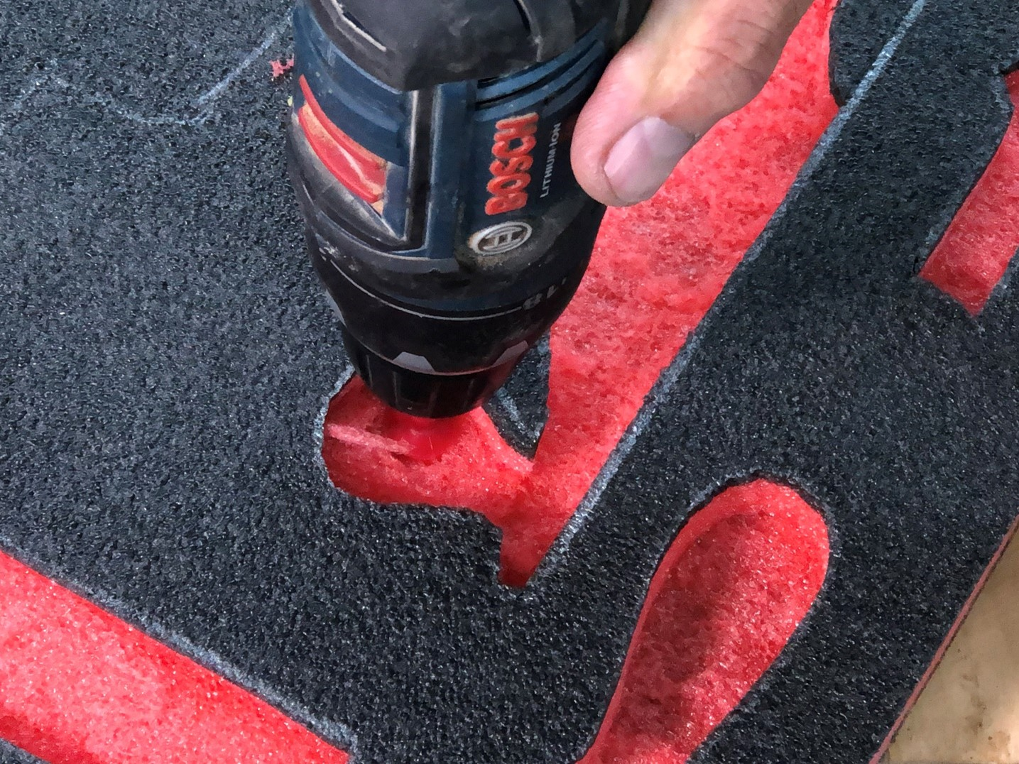 Using the kaizen foam spinners in a drill
