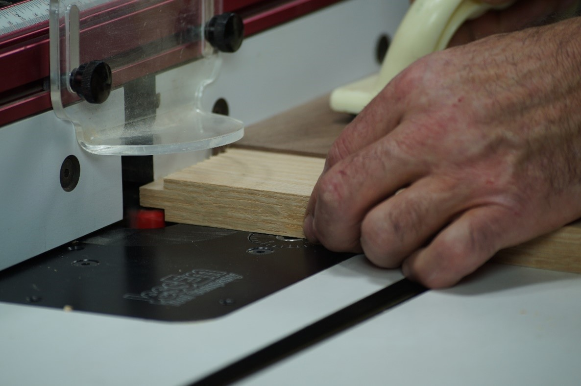 cut the tenon on a test piece of wood