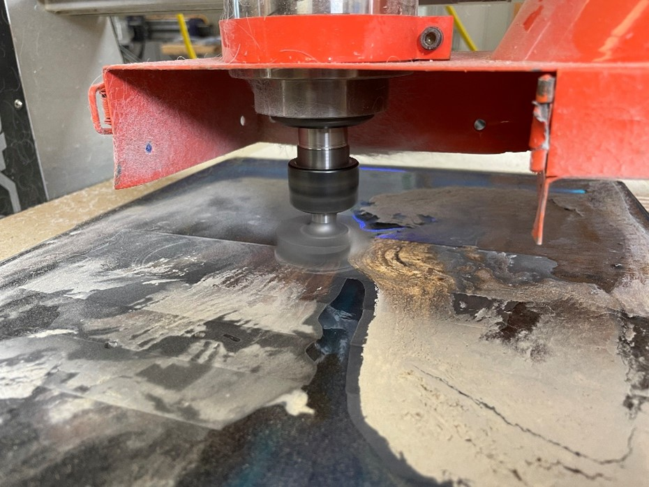 ensuring the correct speed and power is running on the cnc