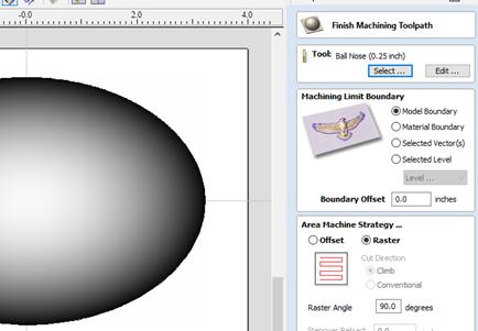 finish machining toolpath menu to finalize cnc programming