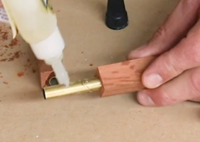 gluing the barrel to the bank