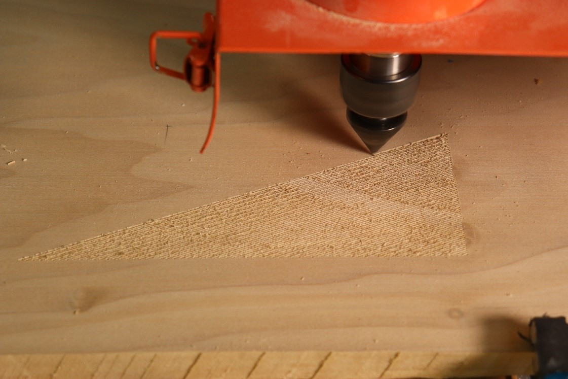 initial cuts into material