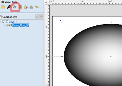 modeling tab to create a vector boundary