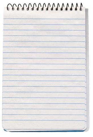 notepad sanding