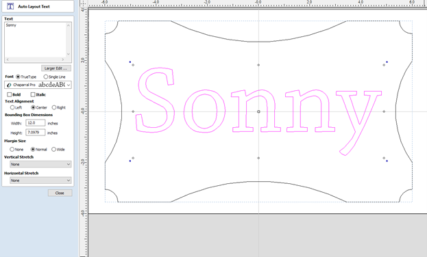 personalizing the type of the sign