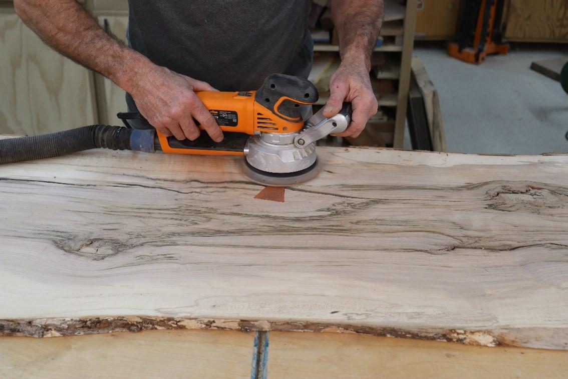 sanding final piece