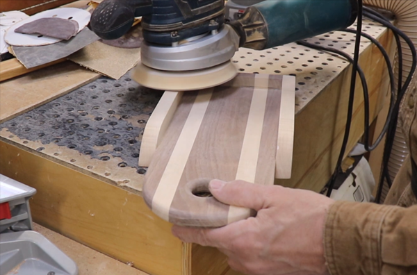 sanding the project until everything fits correctly
