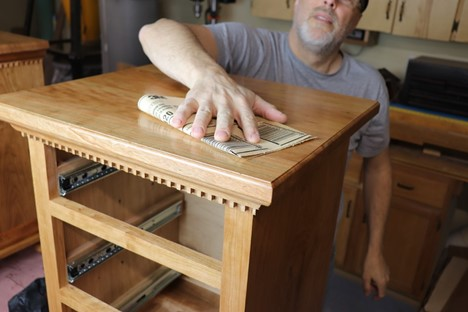 selecting a good buffer to finish off the furniture woodwork