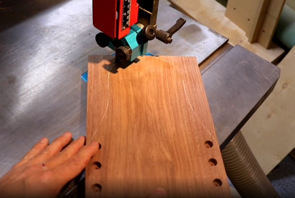shaping and cutting the panels with the laguna bx bandsaw