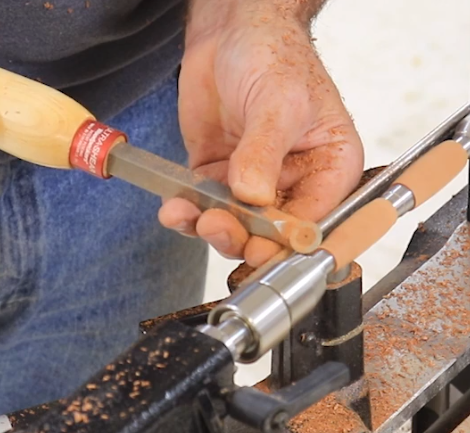 shaping the ends of the handles