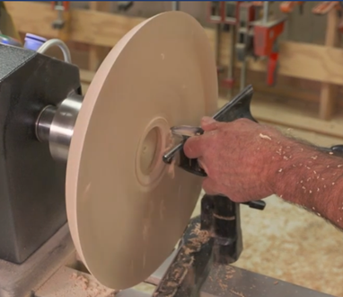 starting the interior of the bowl by forming your first dent