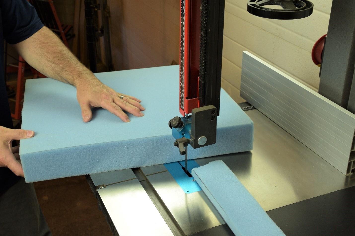 using 18cx bandsaw to cut foam