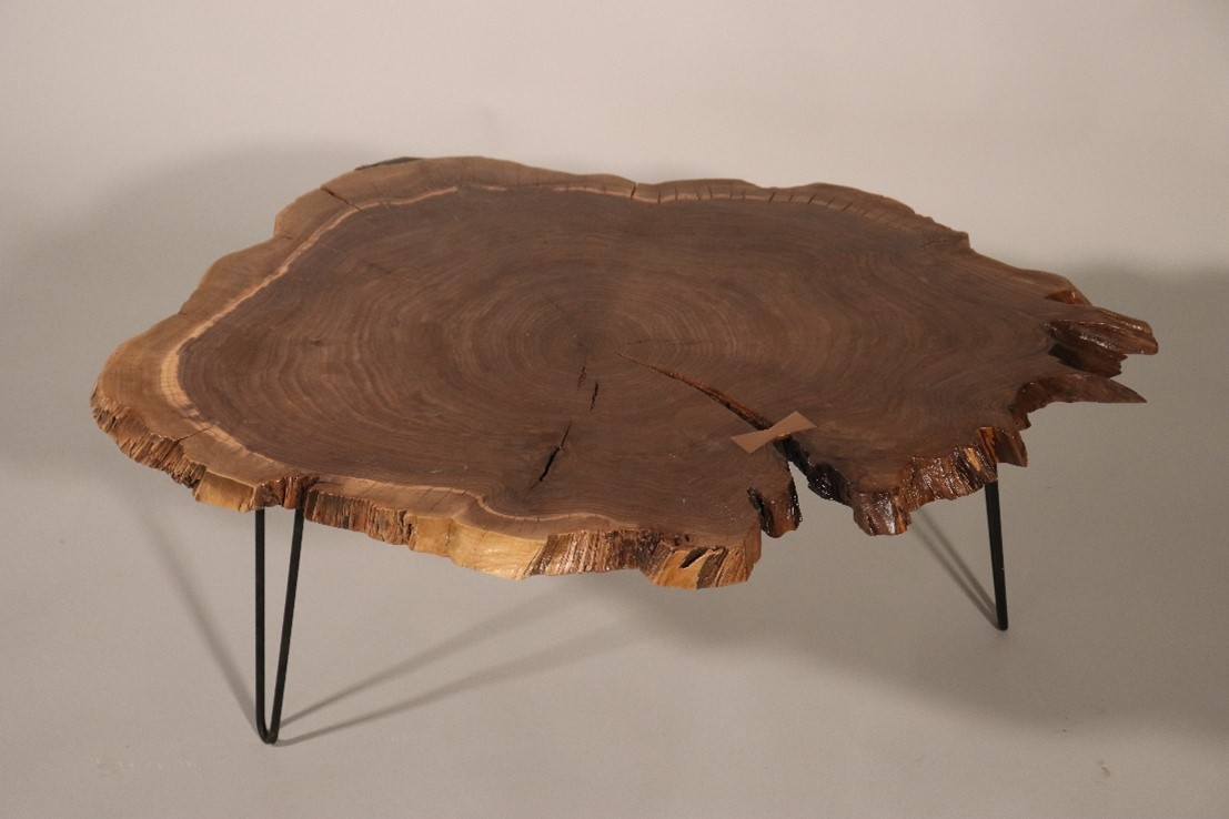 Make a Log Cookie Coffee Table