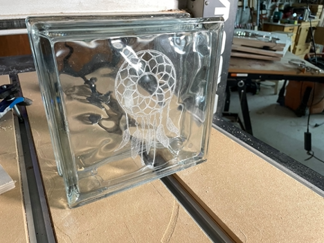 CNC: How To Engrave a Glass Block