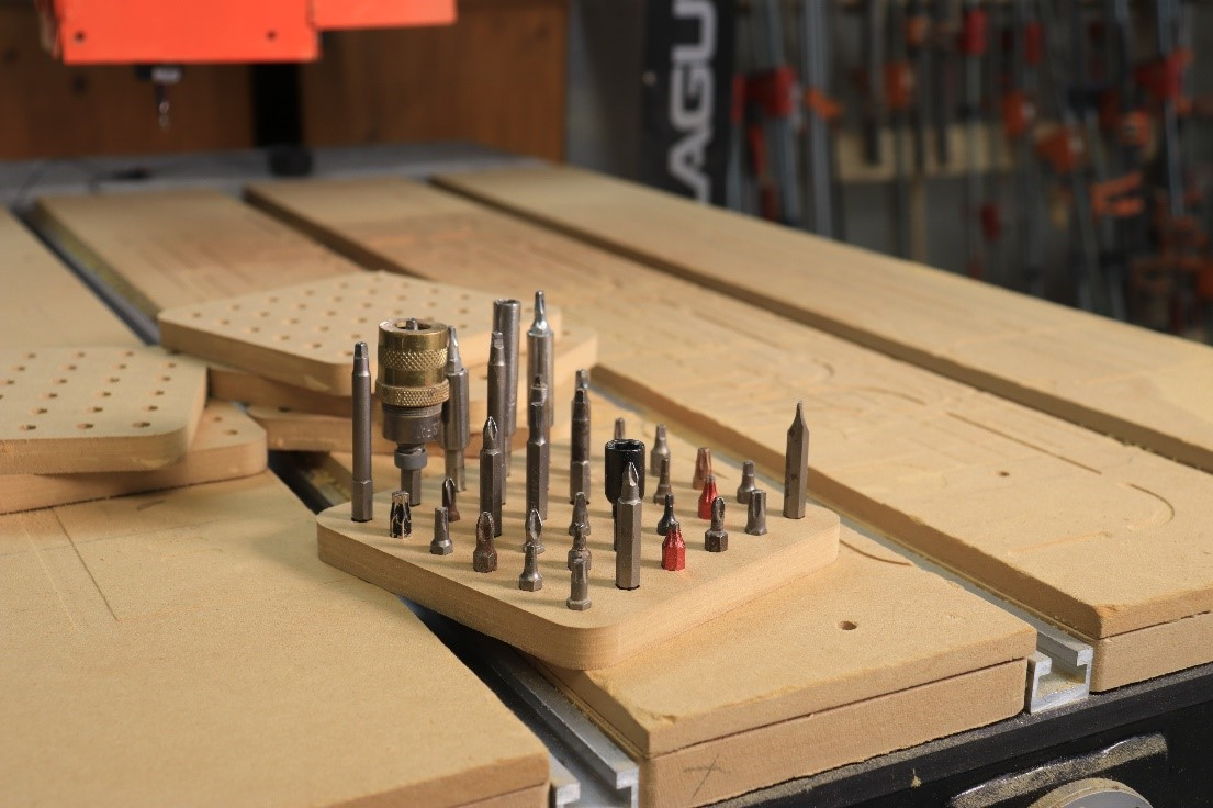 CNC-Cut Hex Driver Tray
