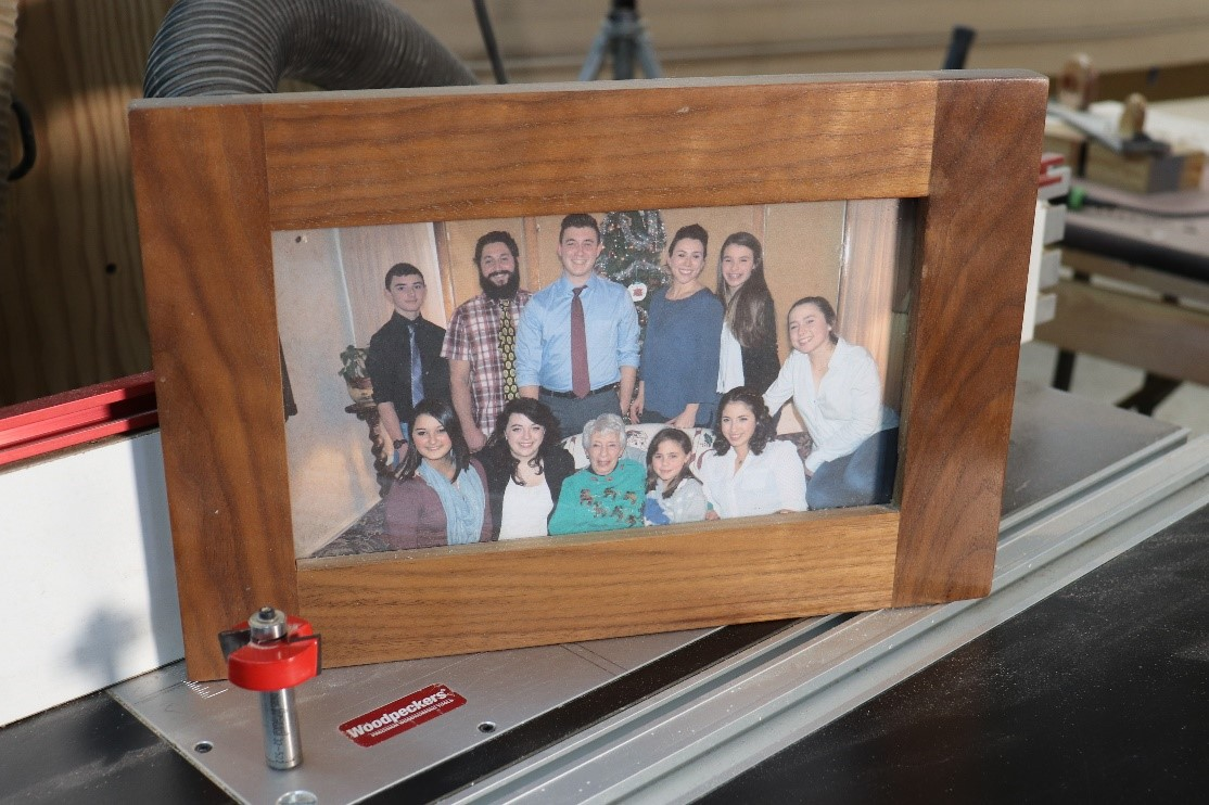 No-Miter Picture Frames