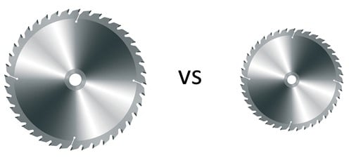 Advantages of a Smaller Diameter Blade